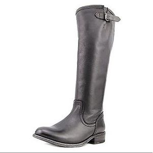 FRYE Tall Riding Knee High Boot Black Leather Boot